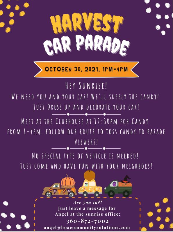 Sunrise Harvest Car Parade
